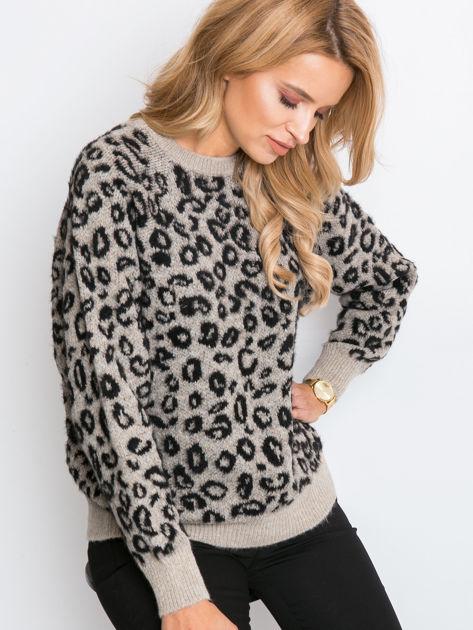 RUE PARIS Beżowy sweter Corsica                              zdj.                              1