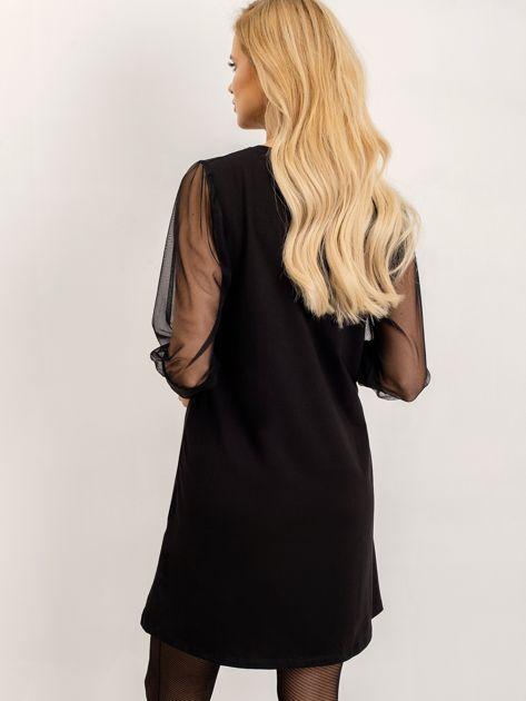RUE PARIS Czarna sukienka Espinosa                              zdj.                              2