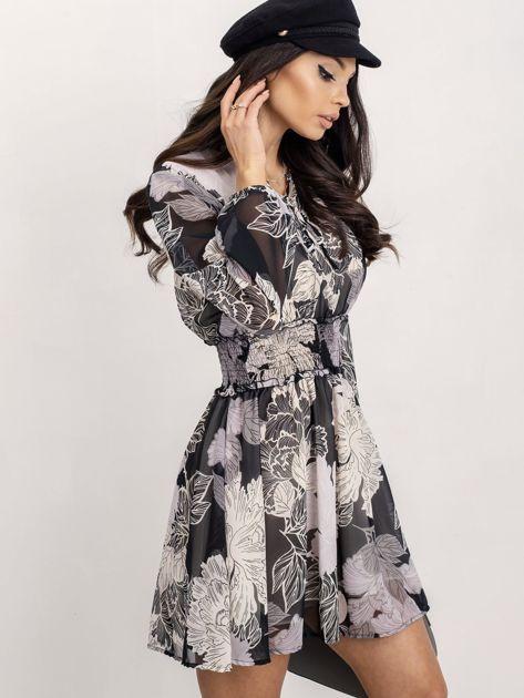RUE PARIS Czarno-biała sukienka Riva                              zdj.                              3