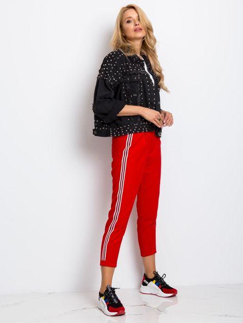 RUE PARIS Czerwone spodnie Orinoco                              zdj.                              4