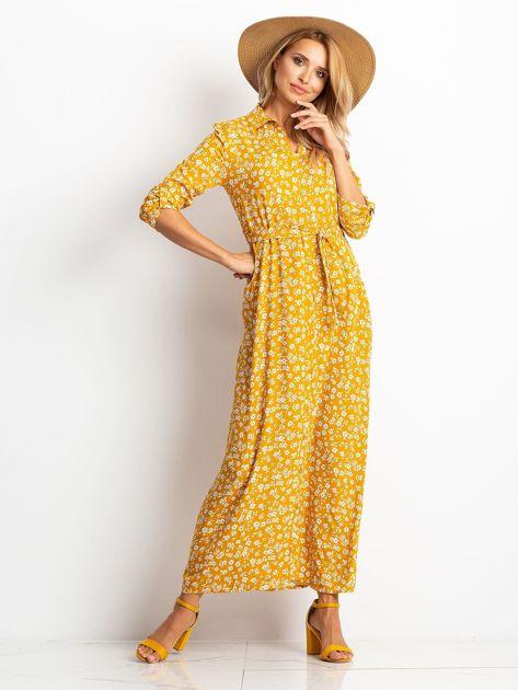 RUE PARIS Musztardowa sukienka Icon                              zdj.                              4