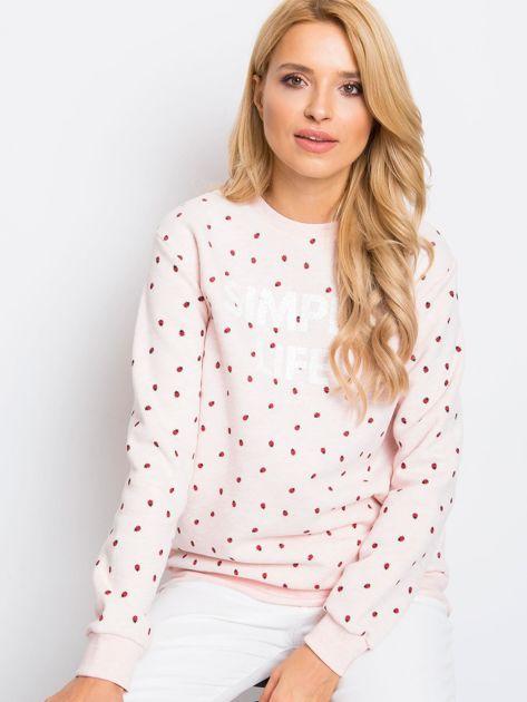 RUE PARIS Różowa bluza Saige