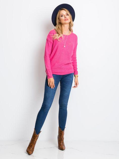 RUE PARIS Różowy sweter Sugarfrost                              zdj.                              4