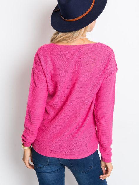 RUE PARIS Różowy sweter Sugarfrost                              zdj.                              2