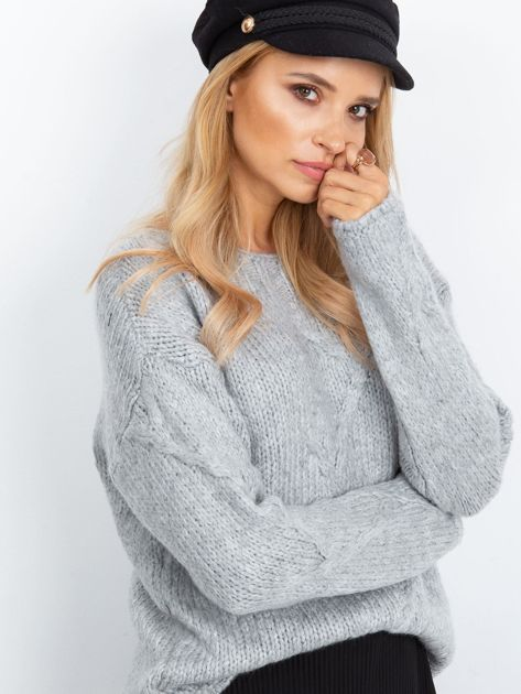 RUE PARIS Szary sweter Tiffany                              zdj.                              3
