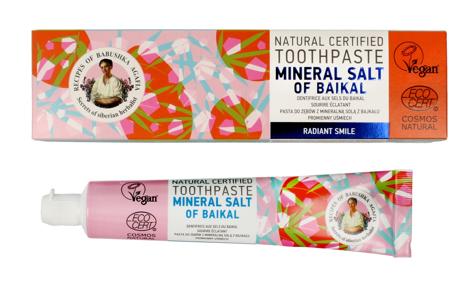 """Receptury Babuszki Agafii Pasta do zębów promienny uśmiech Mineral Salt of Baikal 85g"""""""