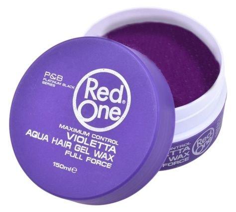 RedOne AQUA HAIR GEL WAX FULL FORCE VIOLETTA Wodny żelowy wosk do włosów ZAPACH JAGODOWY 150 ML                              zdj.                              1