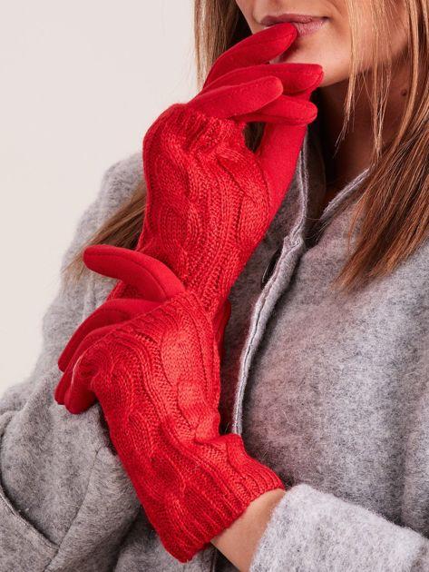 Rękawiczki damskie 2 w 1 rękawiczki + mitenki