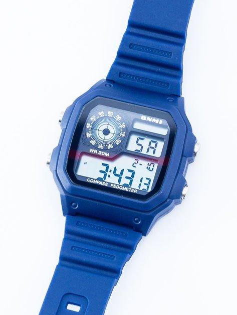 Retro wodoodporny zegarek z podświetleniem i stoperem