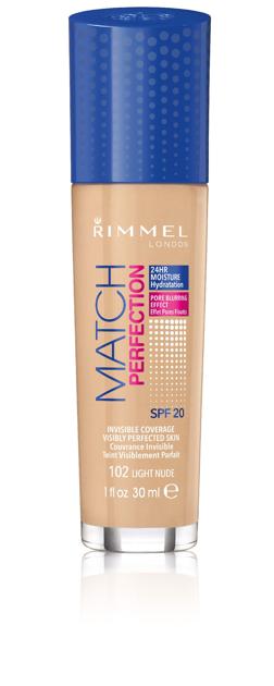 "Rimmel Podkład Match Perfection nr 102 light nude  30ml"""