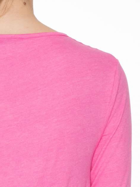 Różowa bawełniana bluzka z gumką na dole                                  zdj.                                  5
