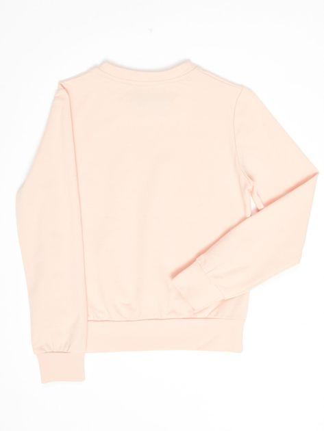 Różowa bluza młodzieżowa                              zdj.                              2