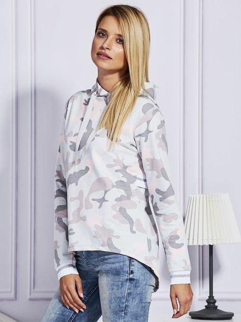 Różowa bluza moro z kapturem                              zdj.                              5