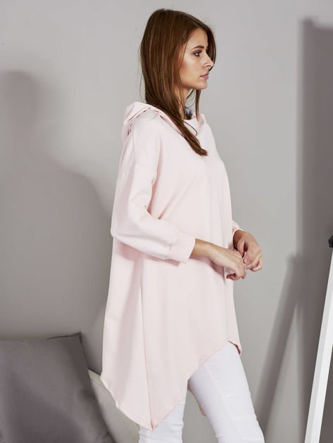 Różowa bluza oversize z kapturem                              zdj.                              3