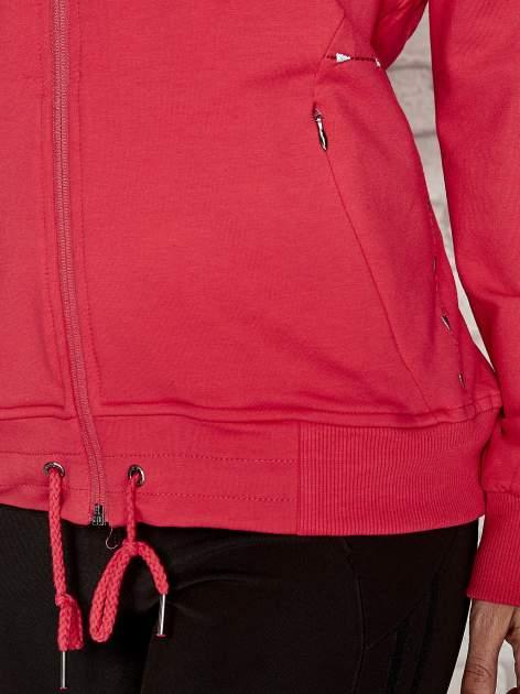 Różowa bluza sportowa fitness ze wstawkami                                  zdj.                                  5