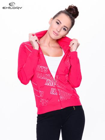 Różowa bluza sportowa z logo EXTORY                                  zdj.                                  1