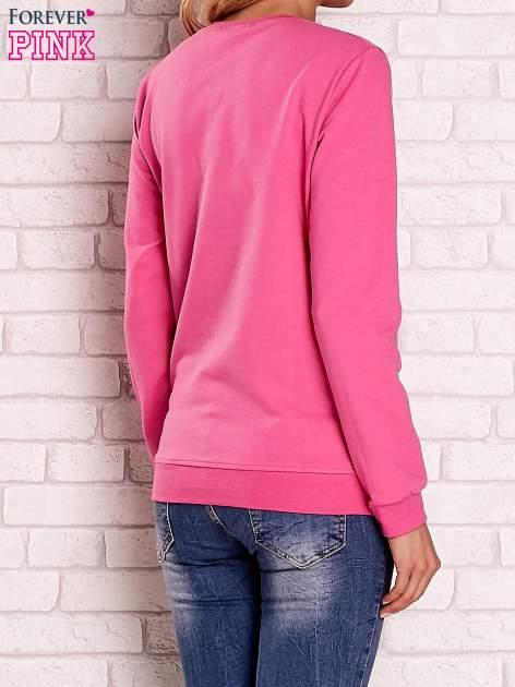 Różowa bluza z kolorowym nadrukiem                                  zdj.                                  4