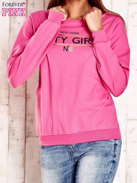 Różowa bluza z napisem CITY GIRL