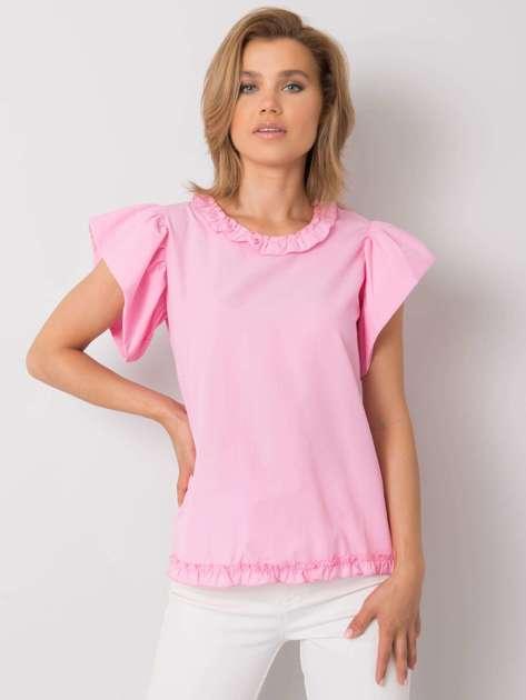 Różowa bluzka damska z falbankami Arya