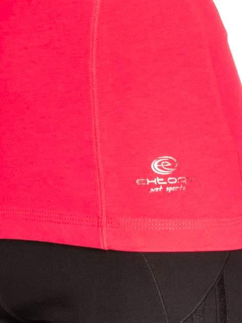 Różowa bluzka sportowa basic PLUS SIZE                                  zdj.                                  5