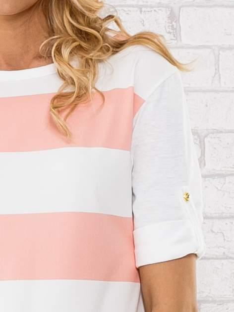 Różowa bluzka w szerokie pasy                                  zdj.                                  5
