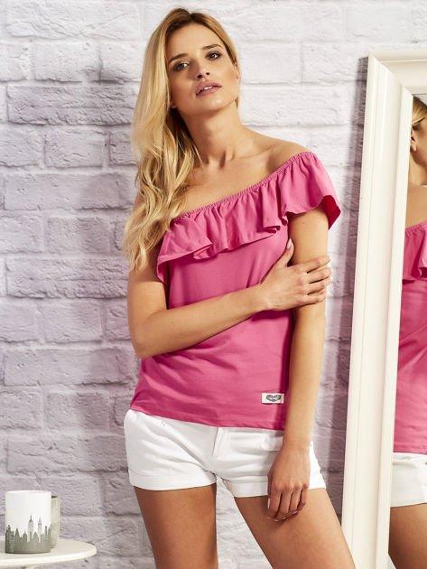 Różowa bluzka z falbaną                                  zdj.                                  1