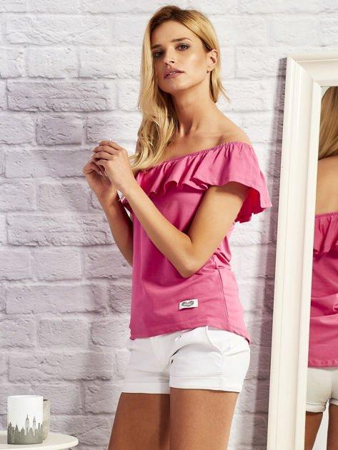 Różowa bluzka z falbaną                                  zdj.                                  2