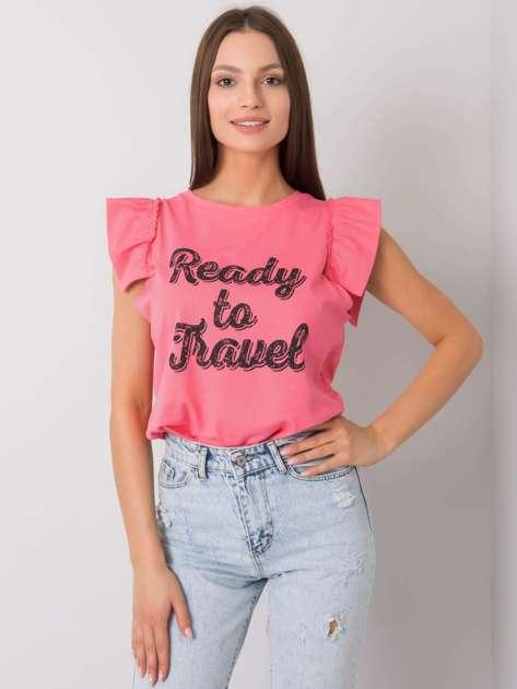 Różowa bluzka z nadrukiem Beverly