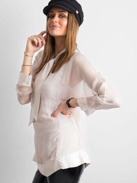 Różowa bluzka z wiązaniem                              zdj.                              3