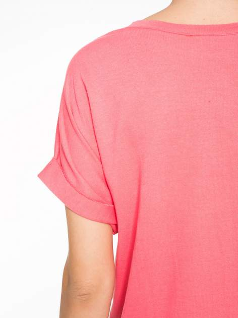 Różowa bluzosukienka z nadrukiem NYC                                  zdj.                                  11