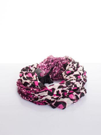 Różowa chusta w panterę                                  zdj.                                  2