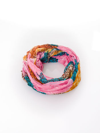 Różowa chusta z motywem panterki                                  zdj.                                  2