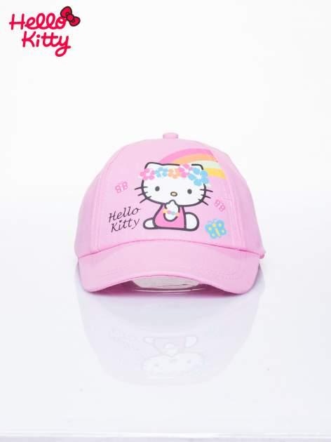Różowa czapka z daszkiem dla dziewczynki motyw HELLO KITTY                                  zdj.                                  1