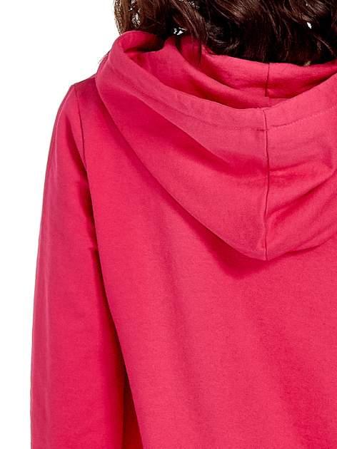 Różowa damska bluza z kapturem i napisem WILD AT HEART 1989                                  zdj.                                  7
