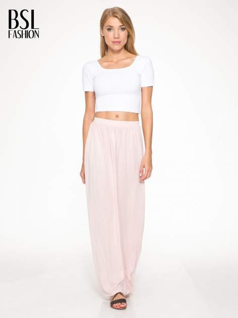Różowa długa spódnica maxi                                  zdj.                                  5