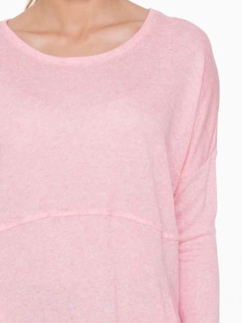 Różowa dresowa bluza oversize z kieszeniami                                  zdj.                                  7