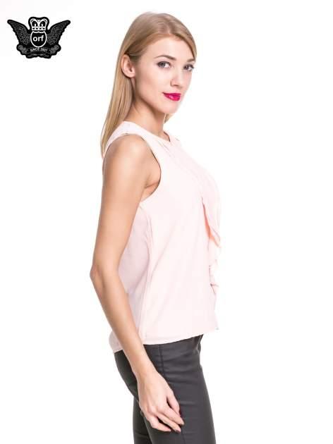 Różowa elegancka koszula z żabotem                                  zdj.                                  3