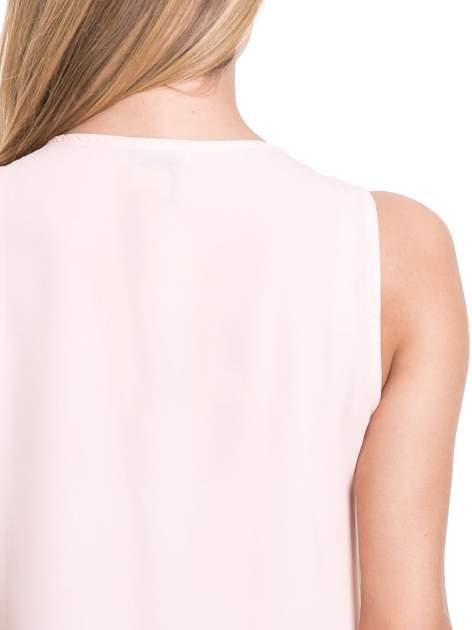 Różowa elegancka koszula z żabotem                                  zdj.                                  7