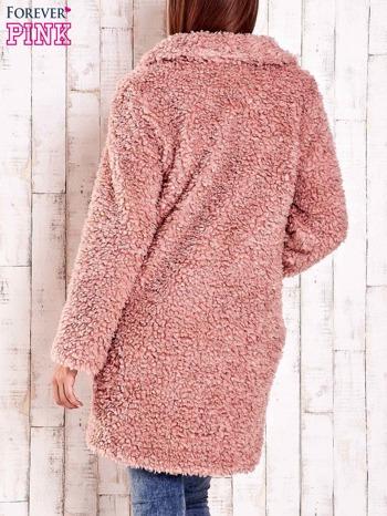 Różowa futrzana kurtka oversize                                  zdj.                                  5
