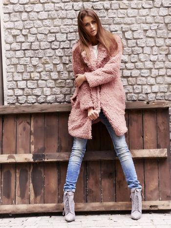 Różowa futrzana kurtka oversize                                  zdj.                                  6
