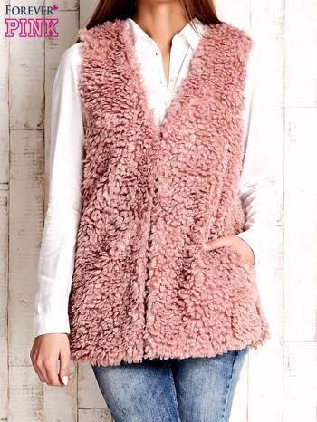 Różowa kamizelka fluffy                                  zdj.                                  1