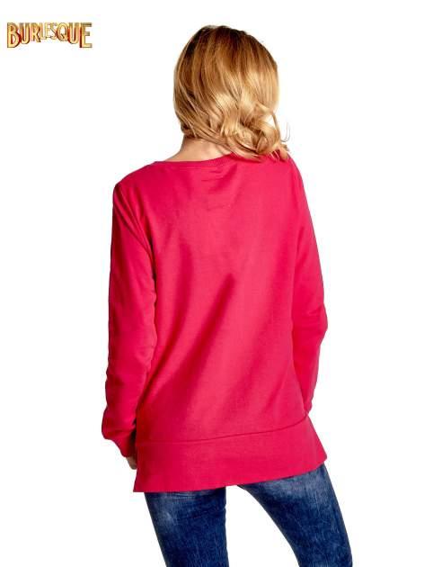Rózowa klasyczna bluza damska z napisem AVENUE MONTAIGNE                                  zdj.                                  2
