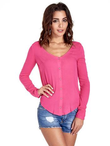 Różowa koszula z kontrafałdą z tyłu