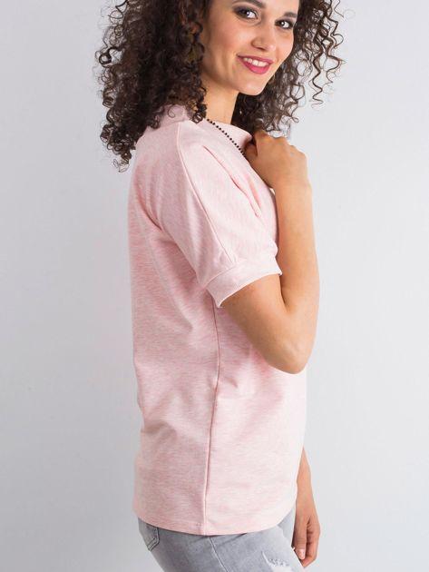 Różowa melanżowa bluzka Lemontree                              zdj.                              3