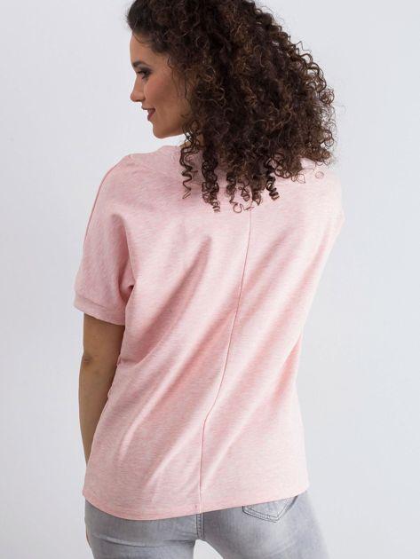Różowa melanżowa bluzka Lemontree                              zdj.                              2