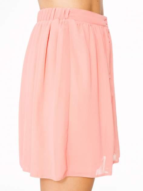 Różowa mini spódnica zapinana z przodu  na rząd guzików                                  zdj.                                  8