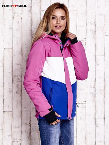 Różowa modułowa kurtka narciarska z kapturem FUNK N SOUL                                  zdj.                                  3