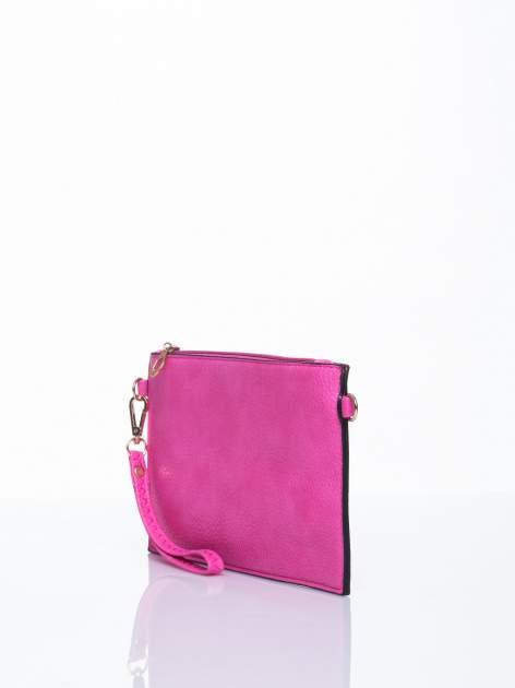 Różowa prosta przewieszana torebka z uchwytem                                  zdj.                                  3