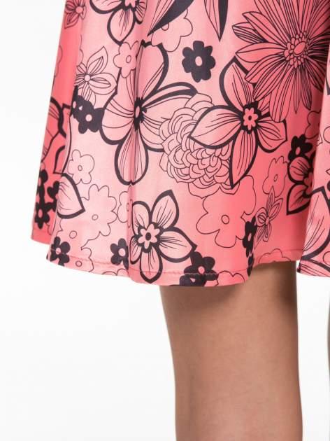 Różowa rozkloszowana spódnica skater w kwiaty                                  zdj.                                  7