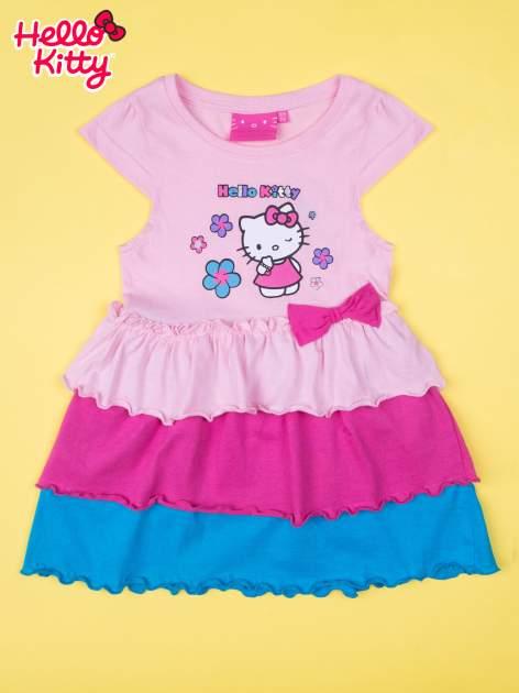 Różowa spódnica dla dziewczynki HELLO KITTY z kokardką                                  zdj.                                  1
